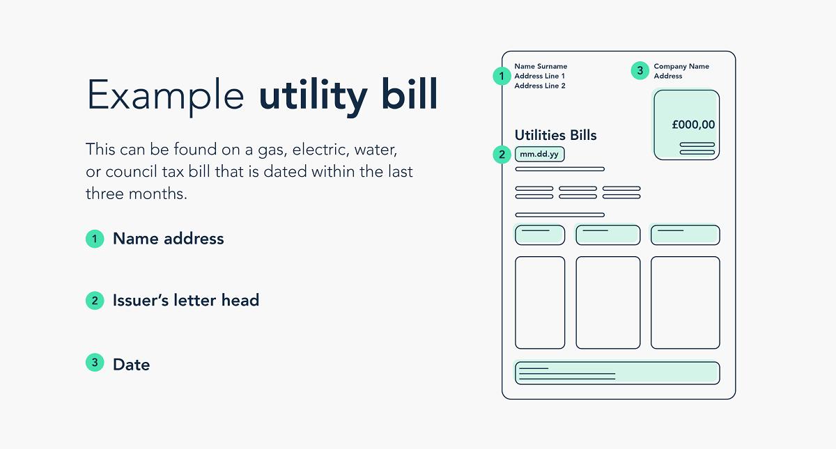 Example utility bill