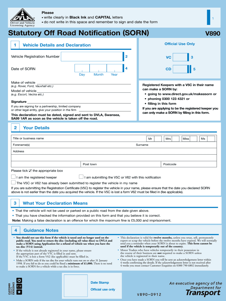 SORN document V890