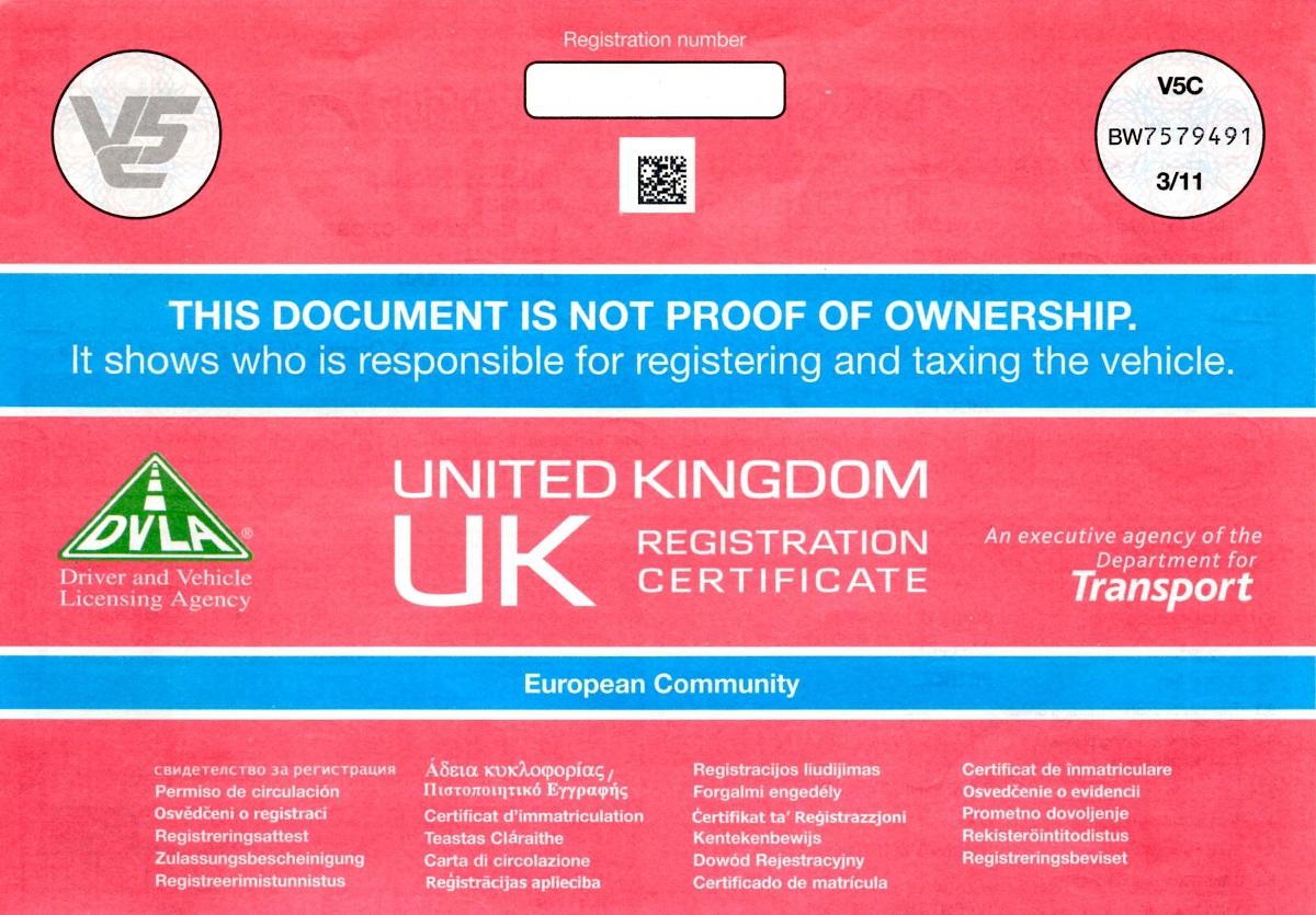 The V5 Registration Document